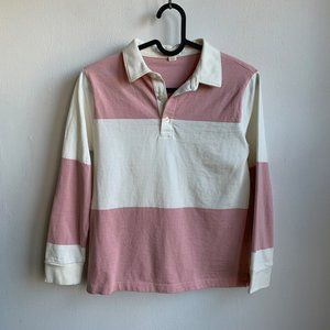 J. Crew pink & cream Rugby youth 10